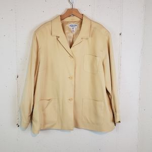 Pendleton  22W yellow 85% silk 15% wool jacket